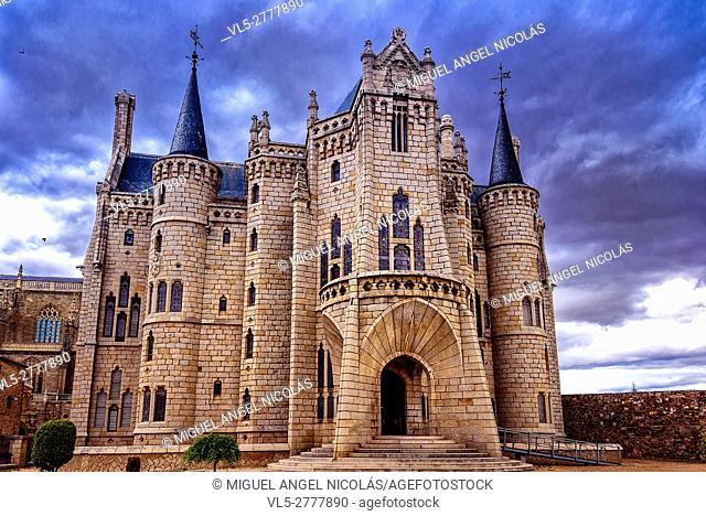 Episcopal Palace, Museo de los Caminos, the Way of S. James, Astorga, Castilla-Leon, Spain