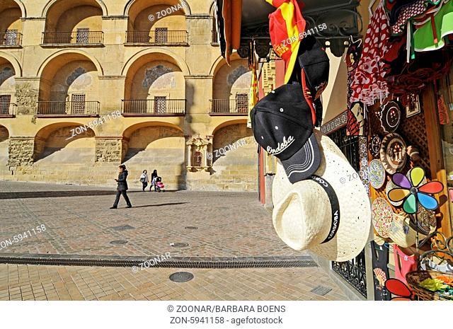 Souvenir shop, Plaza del Triunfo, square, Cordoba, Andalusia, Spain, Europe, Souvenirgeschaeft, Plaza del Triunfo, Platz, Cordoba, Andalusien, Spanien, Europa