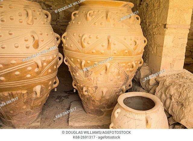 Minoan storage jars at Knossos, Crete, Greece