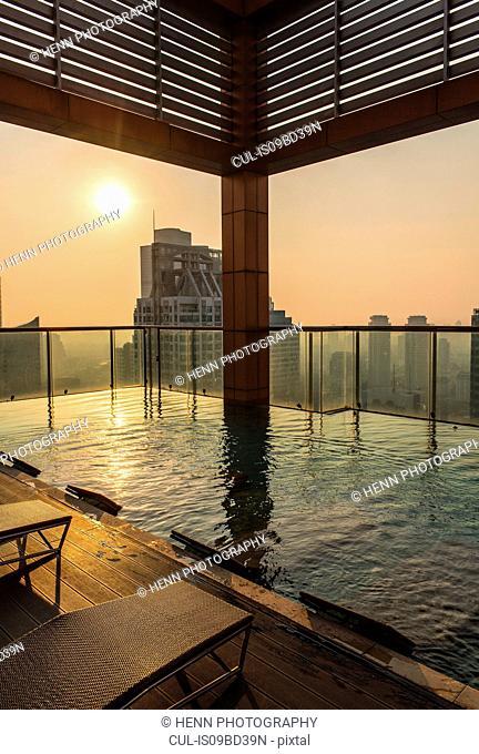 Pool on rooftop, Sathorn, Silom, Bangkok