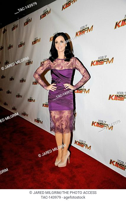 Katy Perry arrives at 102.7 KIIS FM's Jingle Ball 2010 at Nokia Theater L.A. Live on December 5, 2010 in Los Angeles, California