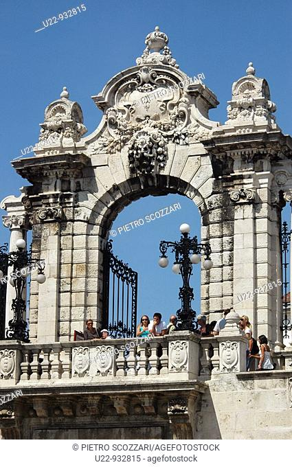Budapest (Hungary), the entrance gate of the Royal Palace