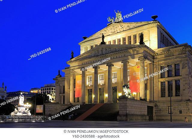 Gendarmenmarkt at Night, Berlin, Germany