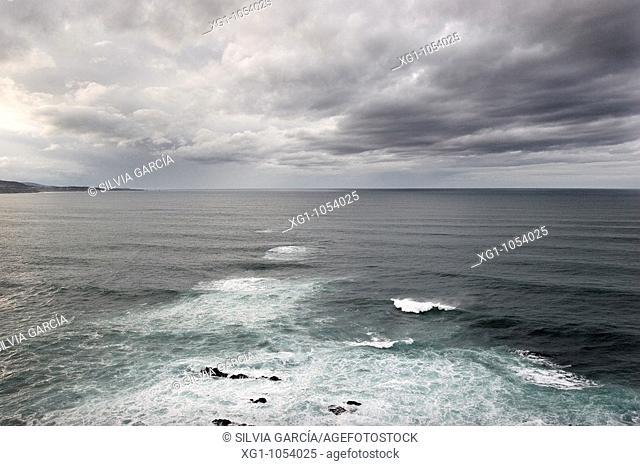 Cantabrian Sea from Lighthouse Busto, Asturias, Spain
