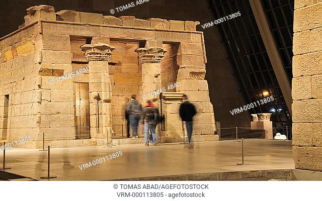The Temple of Dendur, Roman period, ca 15 b c , Egyptian, Dendur, Nubia, Sandstone, L from gate to rear of temple 82 ft 24 m 60 cm