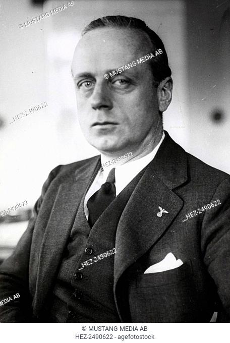 Joachim von Ribbentrop, Nazi German Foreign Minister, c1938-c1945. Ribbentrop (1893-1946) joined the Nazi Party in 1932 and served as a roving ambassador before...