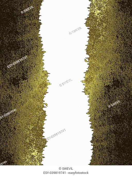 Golden torn edges isolated on white background. Design template