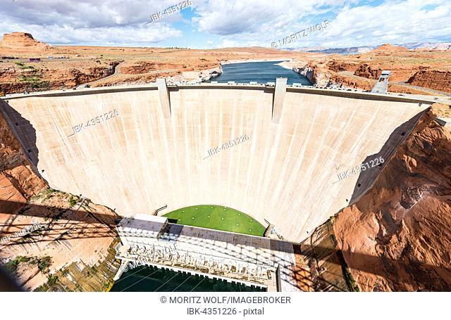 Glen Canyon Dam, Lake Powell Dam, Colorado River, Arizona, USA