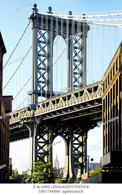 Brooklyn, Manhattan Bridge, New York City  USA