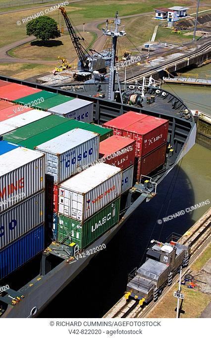 Pedro Miguel Locks, Panama Canal, Panama, Central America