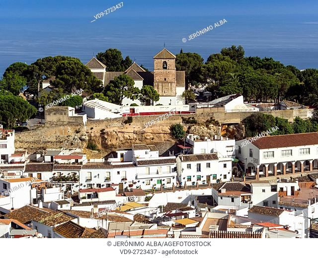 White village of Mijas Pueblo. Malaga province Costa del Sol. Andalusia southern, Spain Europe