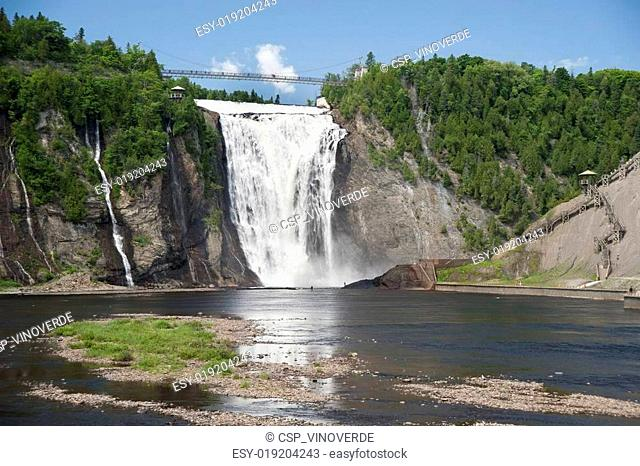 Fishing near Montmorency Falls