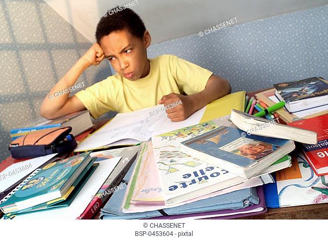 CHILD DOING HOMEWORK Model