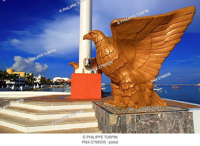 Mexico, Quintana Roo, Cozumel Island. San Miguel de Cozumel