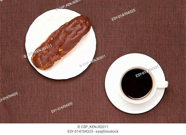 eclair and coffee