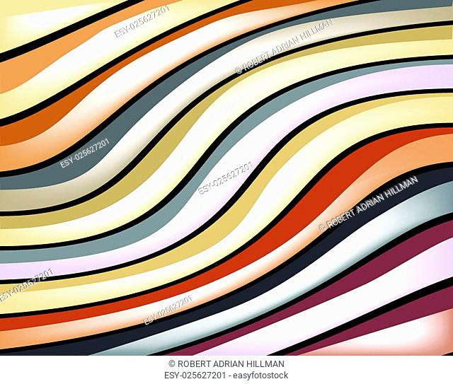 Abstract editable vector background design of colorful glossy stripes