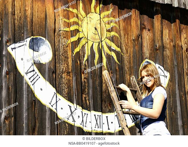 Tanja and a sundial