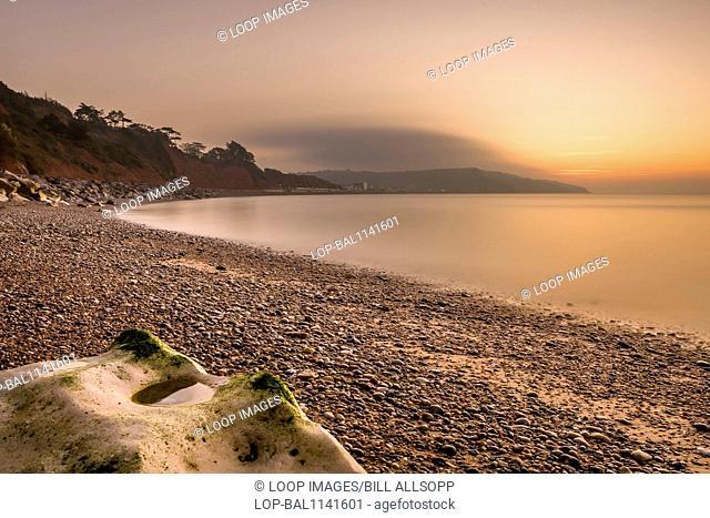 The beach at Seaton Hole looking towards Seaton itself