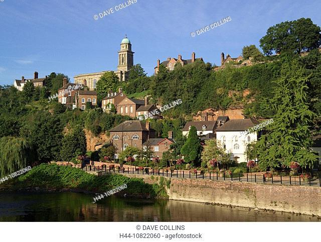 high, town, River Severn, river, Severn, Bridgnorth, Shropshire, England, Europe, UK, United Kingdom, United, Kingdom