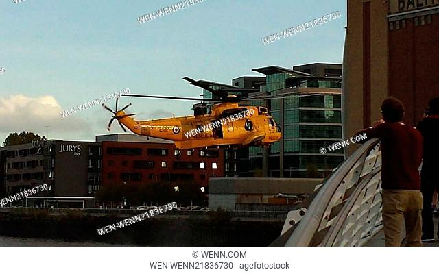 Police Search River Tyne after man falls from Bridge Featuring: RAF Where: Newcastle, United Kingdom When: 17 Oct 2014 Credit: WENN.com