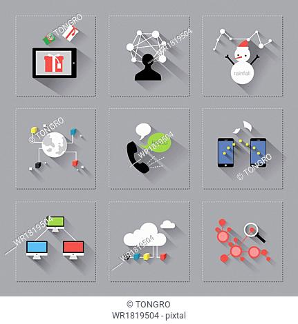 a set of different icons