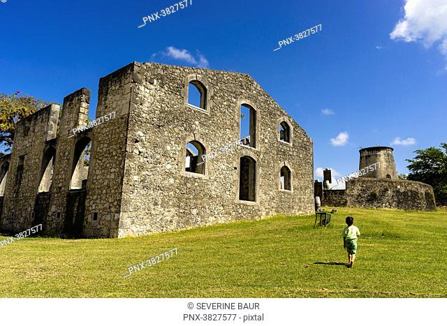 Murat Habitation, was the biggest sugar cane plantation and refinery, Grand Bourg, Marie Galante, Guadeloupe