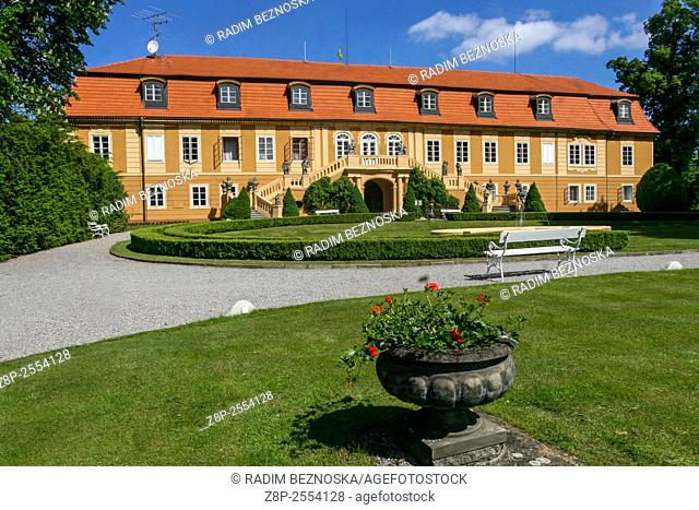 Baroque chateau Stirin, today the hotel facility with an adjacent golf course near Prague, Central Bohemia, Czech Republic, Europe