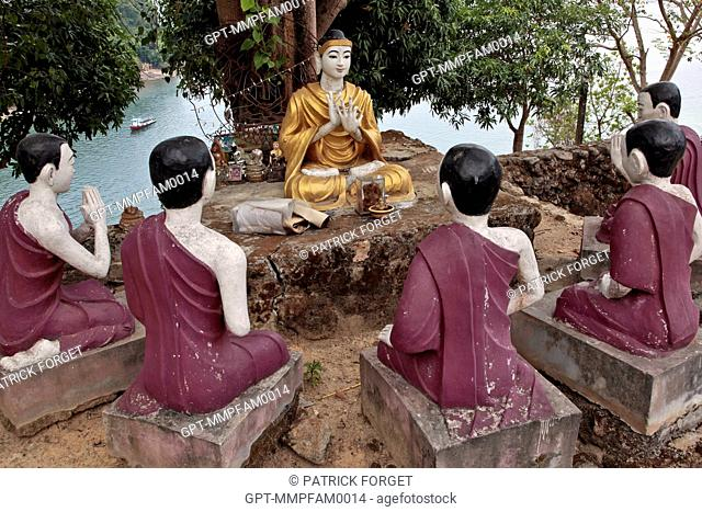 THE BUDDHIST TEMPLE OF KAWTHAUNG, THE CITY ONCE CALLED VICTORIA POINT UNDER BRITISH DOMINATION 1824-1948, SOUTHERN BURMA, ASIA