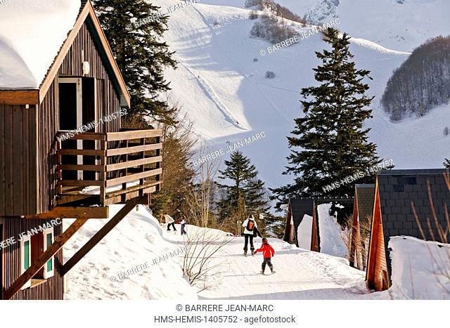 France, Ariege, Guzet ski resort