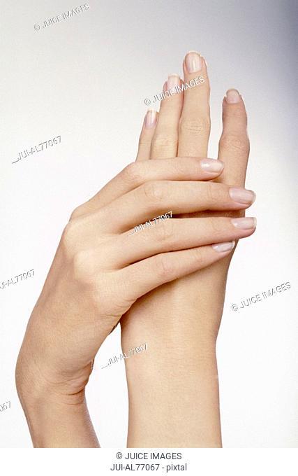 Portrait of a woman's hands