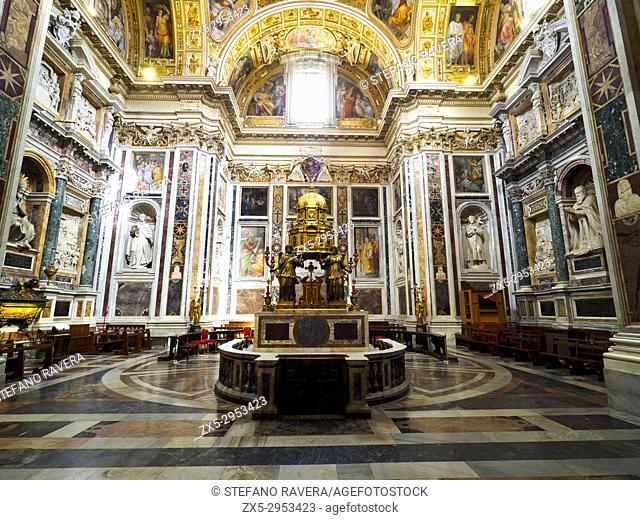 Sistine Chapel ain the Basilica di Santa Maria Maggiore - Rome, Italy