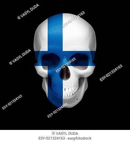 Finnish flag skull