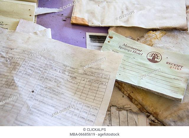 Receipts of hotels and resorts of the island of Montserrat Caribbean Leeward Islands Lesser Antilles