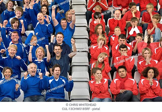 Rival fans at football match