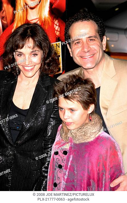 Against the Ropes Premiere 02-11-2004 Tony Shalhoub, Brooke Adams and daughter Sophie Photo by Joe Martinez