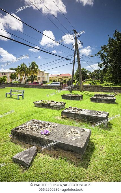 St. Kitts and Nevis, Nevis, Charlestown, Jewish cemetery, 16th-17th century