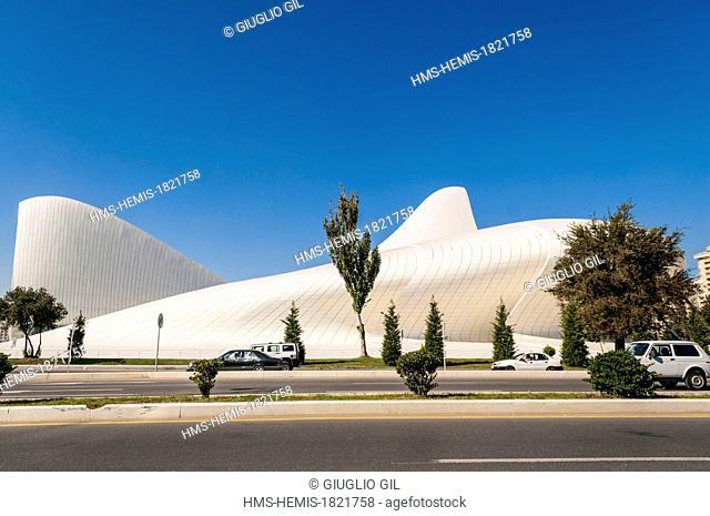Azerbaijan, Baku, Heydar Haliyev Conference Centre by architect Zaha Hadid