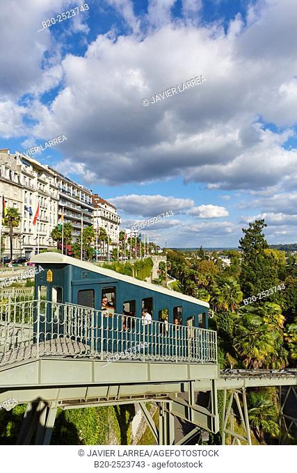 Funicular, Boulevard des Pyrenees, Pau, Pyrenees - Atlantiques, Aquitaine, France
