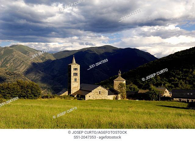 Sant Just and Sant Pastor Church, XI-XII century Romanesque, Son, Pallars Sobira, Lleida, Catalonia, Spain