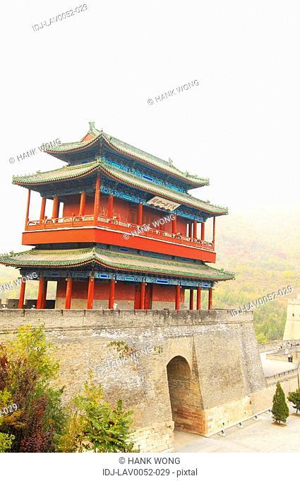 Pagoda on a historic wall, Great Wall Of China, China