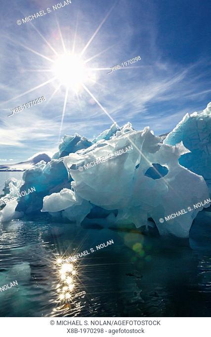 Iceberg in Port Lockroy, western side of the Antarctic Peninsula, Southern Ocean