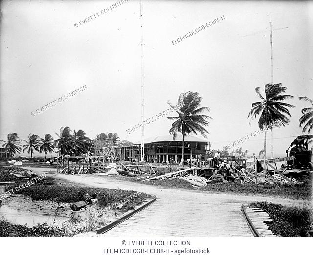 Panama Canal, U.S. Naval radio station, circa 1909-1919
