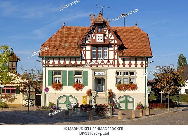 Iznang - the historical city hall - Baden Wuerttemberg, Germany, Europe