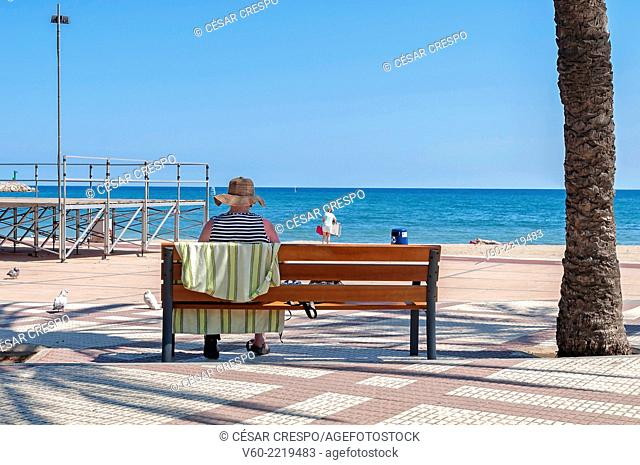 -Woman looking the sea- Cambrils Spain