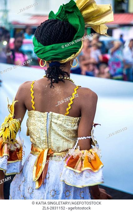 Mardi gras paparade in Sainte Anne, a little village in the South of Martinique