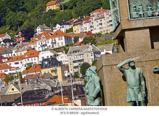 Sailor's Monument, Totgallmenningen, Bergen, Norway, Scandinavia, Europe