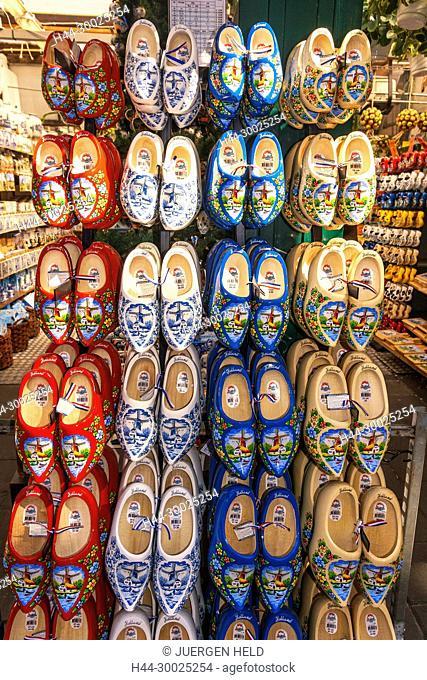 Traditional wooden shoes, Clogs, Amsterdam flower marketAmsterdam, Netherlands