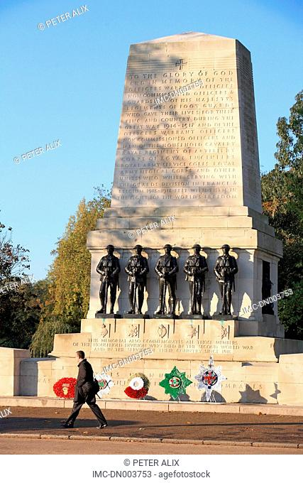 England, London, Saint James Park, Guards Memorial