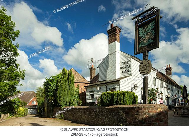 Country pub in Newick village, East Sussex, England
