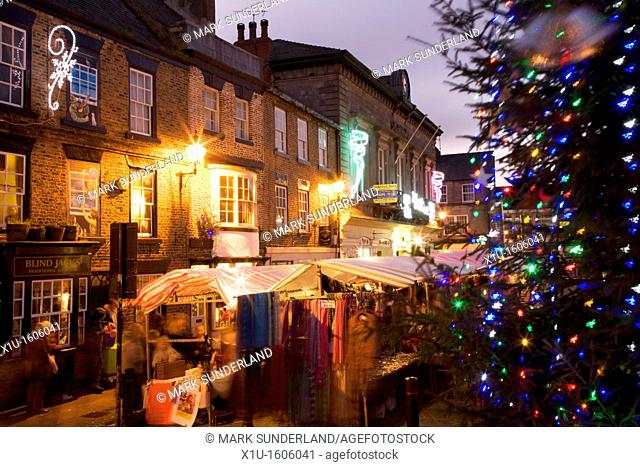 Christmas Market, Knaresborough, North Yorkshire, England, UK